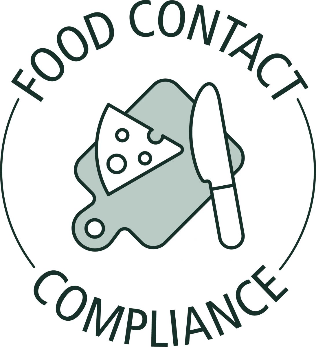 This logo shows that Rubio Monocoat oil is Food Contact Compliant.